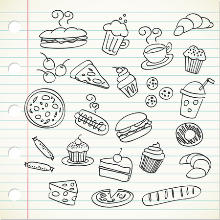 abstract doodle: food doodle