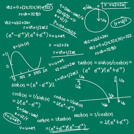 fórmula de bosquejo  Ilustración de vector