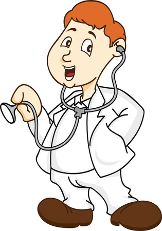 medical drawing: doctor