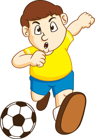 little kid play soccer