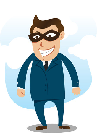 robber wearing suite Vector