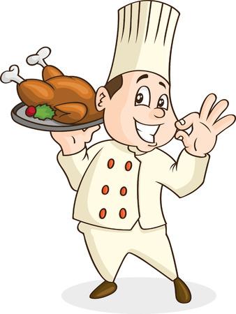 Gelukkig chef-kok Stockfoto - 8159078
