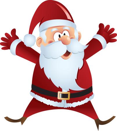 papa noel: Santa Claus Vectores