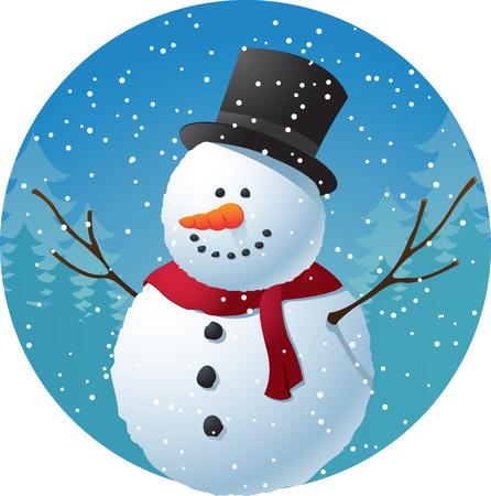 snowman Stock Vector - 8461366