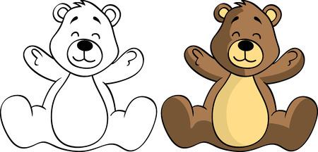 february 1: teddy bear Illustration