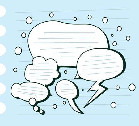 conversations: doodle discorso bolla