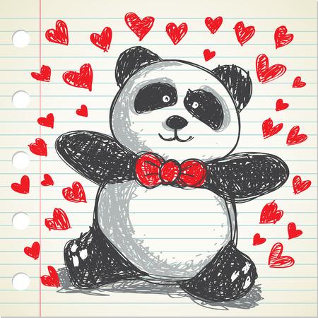 pamda doodle Stock Vector - 8876077