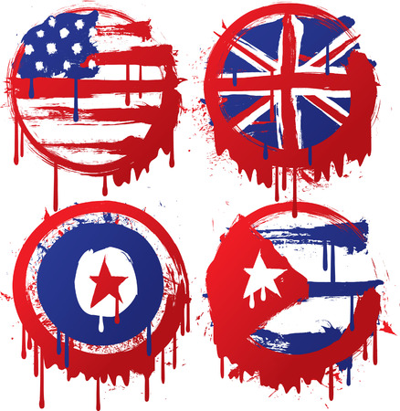 grunge flag made from splatter Stock Vector - 8876121