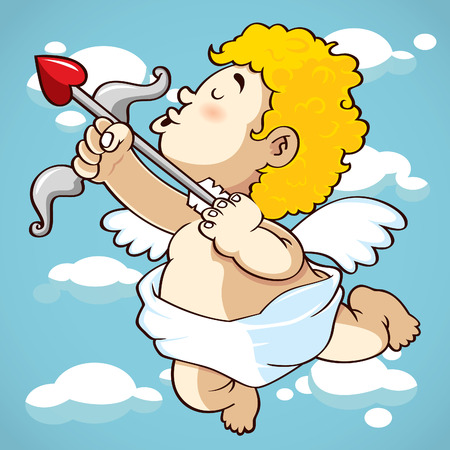 funny picture: happy cupid