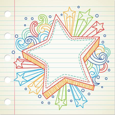 estrella caricatura: estrella doodle