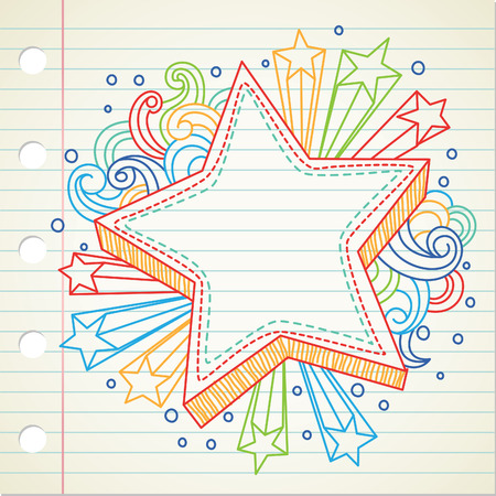 star doodle Stock Vector - 8876130