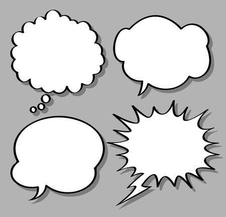 マンガの吹き出し: コミカルなバブルのスピーチ