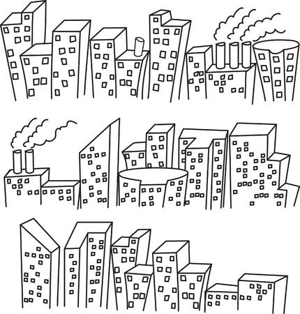 det of building doodle Stock Vector - 9706741