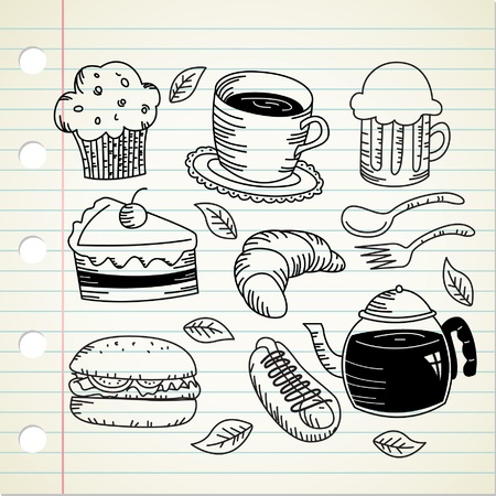 food and drink doodle Stock Vector - 9706742