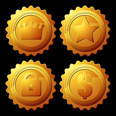 gold medallion Vector