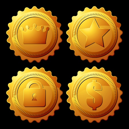 gold medallion Vector