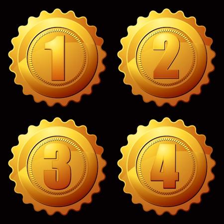 ranking: gold medallion Illustration