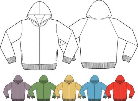 pullover: Jacke-Vorlagen Illustration
