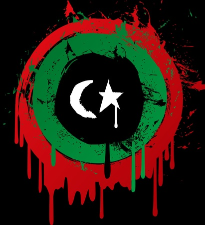 libya grunge flag Stock Vector - 9706801