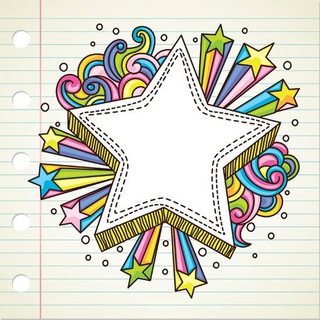 star burst doodle Stock Vector - 9706790