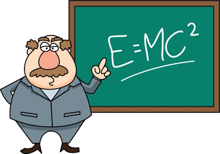 physics teacher Vector