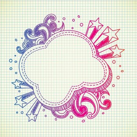 cloud burst doodle Vector