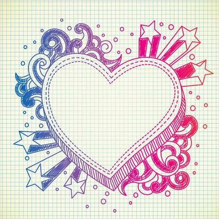 doodle de ráfaga de amor Ilustración de vector
