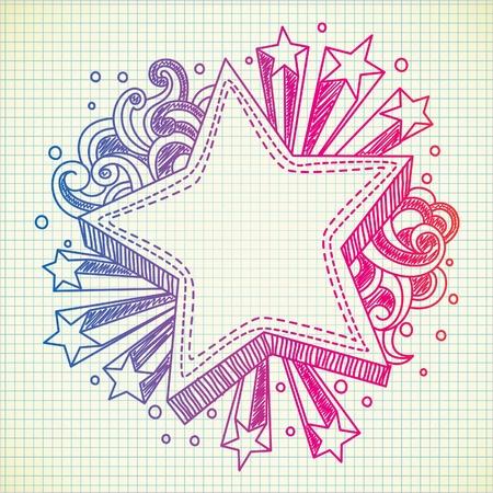 estrella caricatura: doodle estrellas r�faga