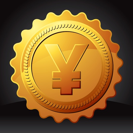 gold currency award Vector