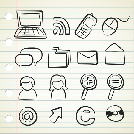multimedia icons: sketchy technology icon
