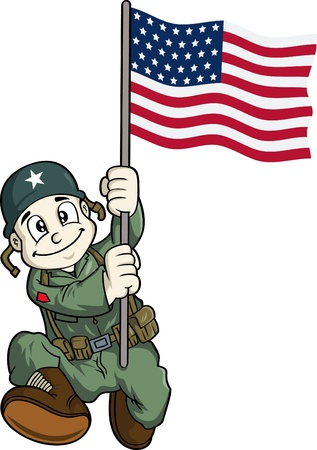 cartoon soldat: Cartoon-Soldat