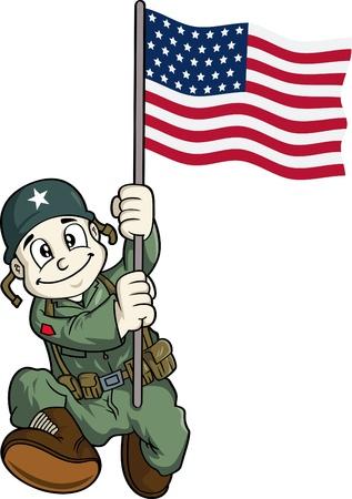 soldado: soldado de dibujos animados