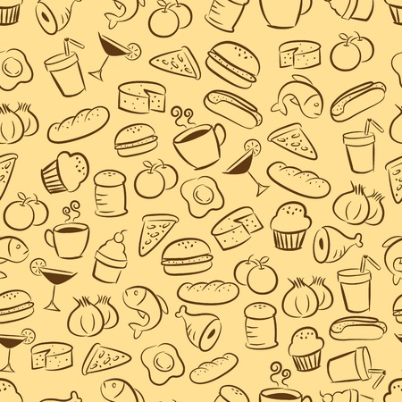 food and drink seamless pattern Vector