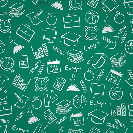 college education: schol seamless pattern
