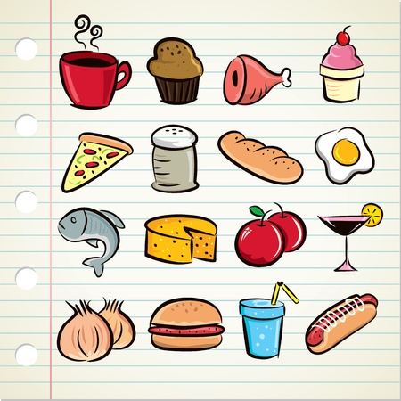 sor az élelmiszer-ikon Illusztráció