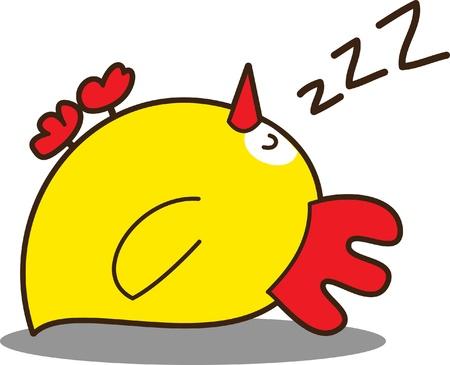 cute little chicken Vector