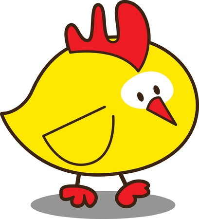 cute little chicken Stock Vector - 10195917