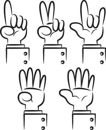 two point: doodle hand