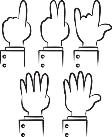 finger cartoon: doodle hand