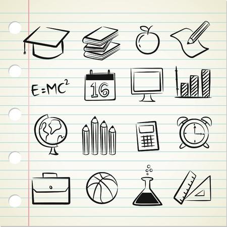 sketchy school icon Vector