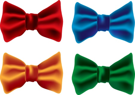 blue tie: red bow Illustration