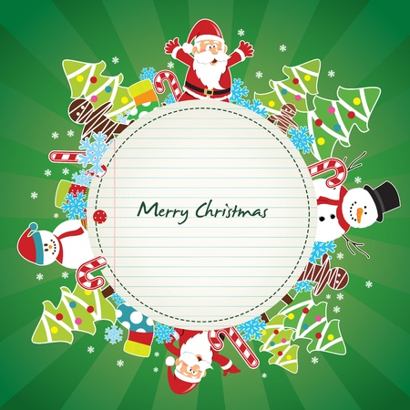 stuff toys: christmas card