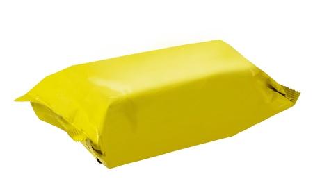 yellow plastic pack  photo