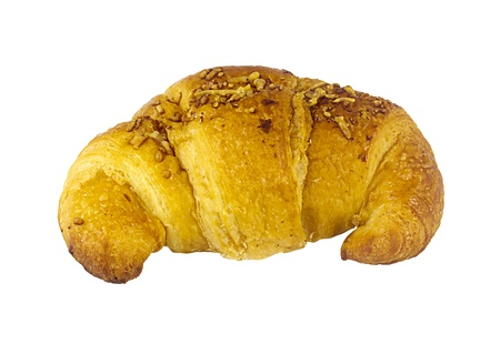 over eating: croissant