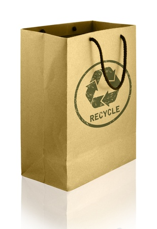 paper folding: recycle shopping bag Stock Photo