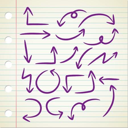 left hand: arrow doodle Illustration