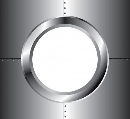 porthole: metal window Illustration
