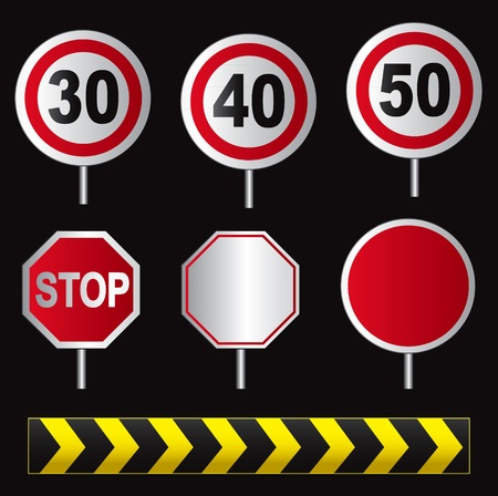 set of traffic sign Stock Vector - 12037818