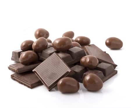casse-cro�te: pile de chocolats en forme de divers Banque d'images