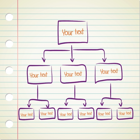blank Hierarchy diagram  Illustration